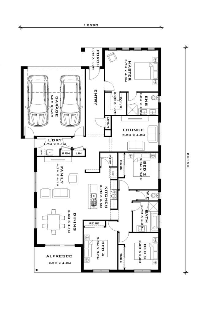 Franklin 25 - floorplan